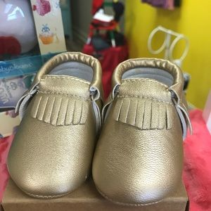 Shoes - Sweet n Swag Gold Moccasins